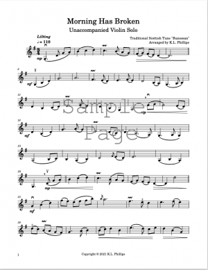 Morning Has Broken – Unaccompanied Violin Solo