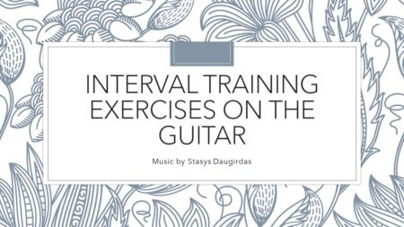 Interval Training Exercises on the Guitar cover 1