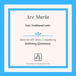 AVE MARIA – SAT, a cappella