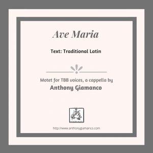 AVE MARIA – TBB, a cappella