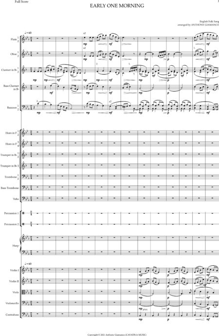 EARLY ONE MORNING orchestra condensed score 0003