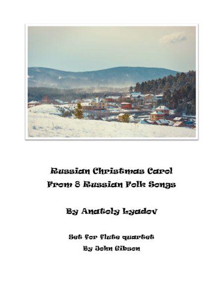 Russian Christmas Carol flute 4 cover