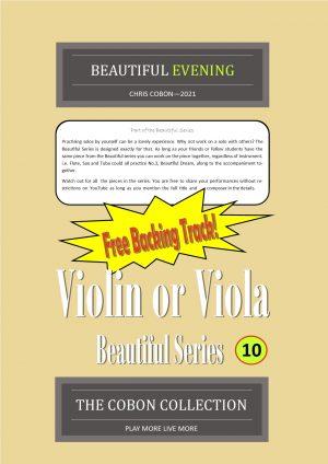 No.10 Beautiful Evening (Violin or Viola)