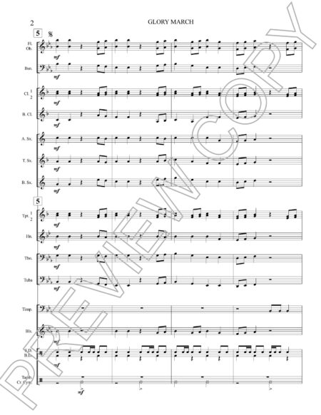 Glory March Score Preview Page 2