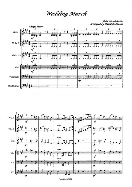 Wedding March String Quintet Sample scaled