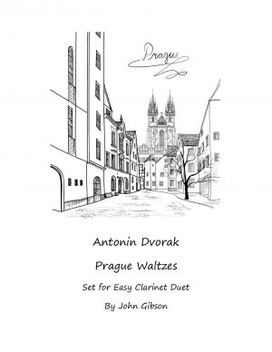 Dvorak Waltzes set for easy clarinet duet