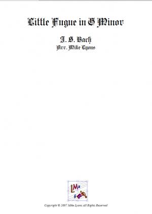 Brass Quartet – Little Fugue in g minor