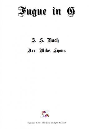 Brass Quartet – Fugue in G