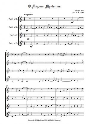 Brass Quartet – O Magnum Misterium (Byrd)