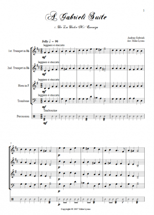Brass Quartet – A Gabrieli Suite