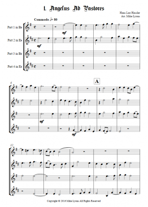 Brass Quartet – Cantiones Sacrae (1592) Hassler