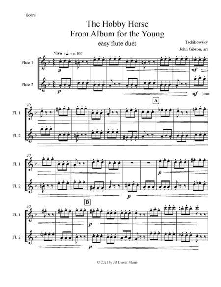 Hobby Horse easy flute duet pg1