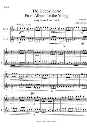 Hobby Horse by Tschaikowski for easy saxophone duet