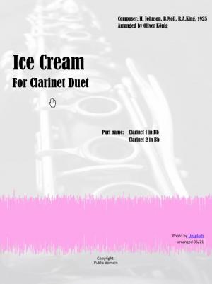 Ice Cream (I Scream You Scream) for Clarinet Duet