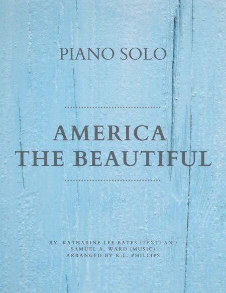 America the Beautiful - Piano Solo Web Cover