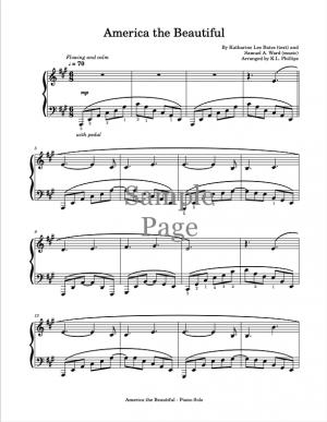 America the Beautiful – Piano solo