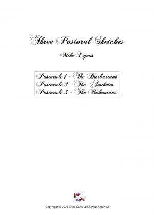 Brass quintet – Three Pastoral Sketches