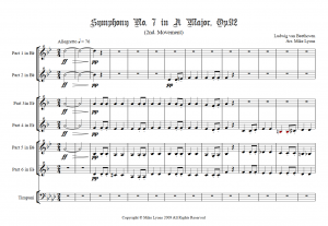 Brass Sextet – Beethoven Symphony No. 7