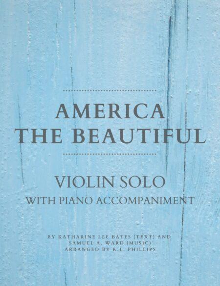 America the Beautiful - Violin Solo with Piano Accompaniment web cover