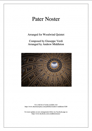Pater Noster arranged for Wind Quintet