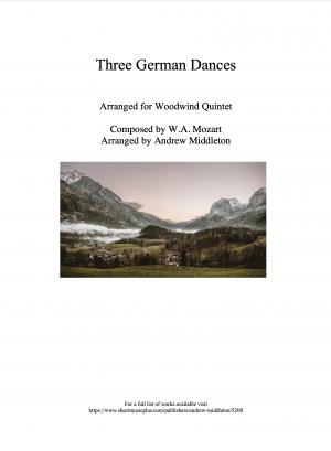 Three German Dances arranged for Wind Quintet