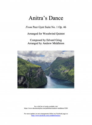 Anitra's Dance from Peer Gynt Suite arranged for Wind Quintet