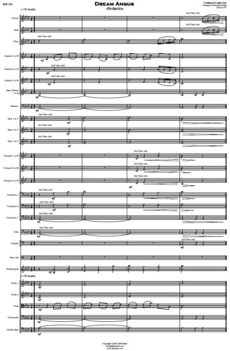 533 Dream Angus Orchestra SAMPLE page 001