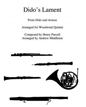 Dido's Lament arranged for Wind Quintet