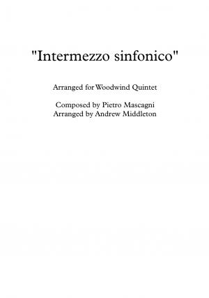 """Intermezzo Sinfonico"" from Cavalleria Rusticana arranged for Woodwind Quintet"