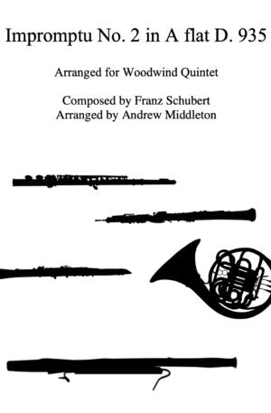 Impromptu No. 2 D935 arranged for Woodwind Quintet