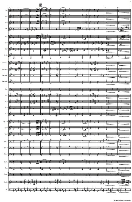 531 The Skye Boat Song Concert Band SAMPLE page 003