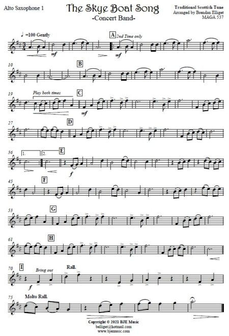 531 The Skye Boat Song Concert Band SAMPLE page 005