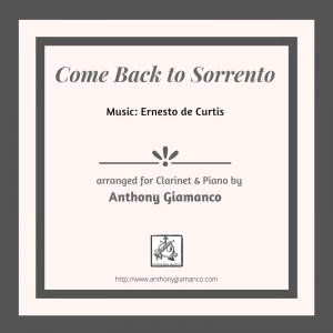 COME BACK TO SORRENTO – clarinet and piano
