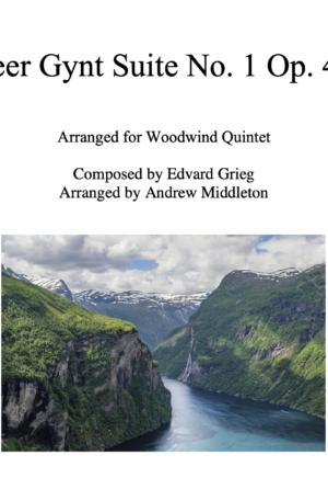 Peer Gynt Suite No. 1 Op. 46 arranged for Woodwind Quintet