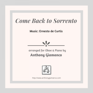 COME BACK TO SORRENTO – oboe and piano