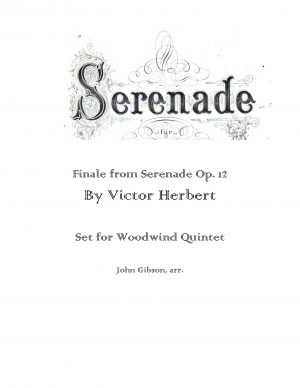 Finale from Serenade set for Woodwind Quintet