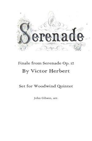 Finale from Serenade set for Wind Quintet