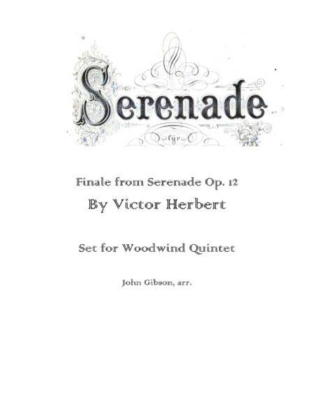 Finale from Serenade Op WW5 cover