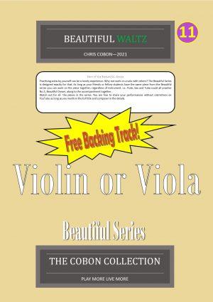 No.11 Beautiful Waltz (Violin or Viola)
