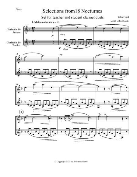 score pg John Field clarinet duets