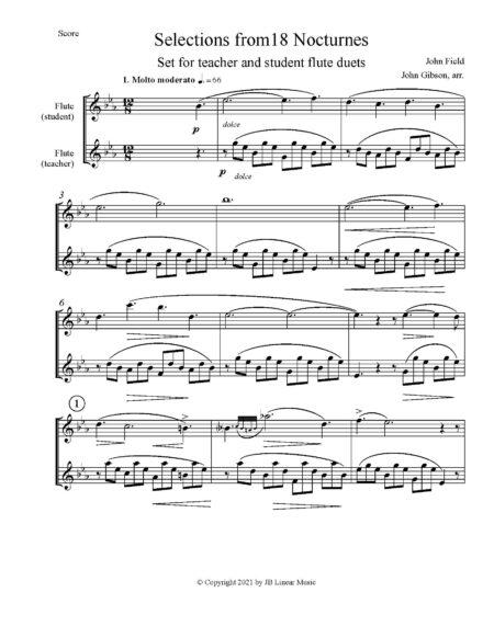 score pg John Field flute duets