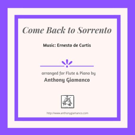 COME BACK TO SORRENTO flute piano