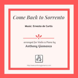 COME BACK TO SORRENTO – violin and piano