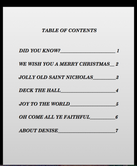 Table of Contents smm 1