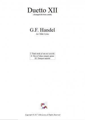 Handel Duetto XII for Brass Sextet