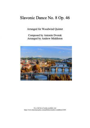 Slavonic Dance No. 8, Op. 46 arranged for Woodwind Quintet