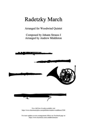 Radetzky March arranged for Woodwind Quintet