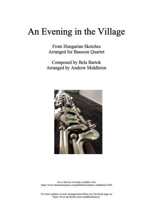 An Evening in the Village arranged for Bassoon Quartet