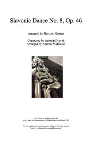 Slavonic Dance No. 8 in G Minor arranged for Bassoon Quartet