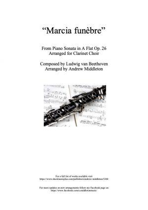 Marcia Funebra arranged for Clarinet Choir